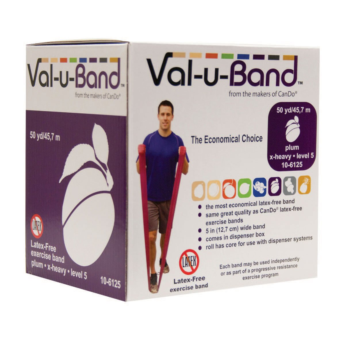 Val-U-Band Latex Free Exercise Band, Plum
