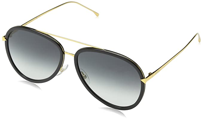 0abbb57061c4 Image Unavailable. Image not available for. Colour  Fendi Women s Funky  Angle Aviator Sunglasses ...