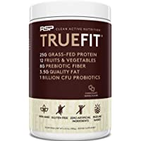 RSP TRUEFIT - Protein Powder Meal Replacement Shake for Weight Loss, Grass Fed Whey, Organic Real Food, Probiotics, MCT…