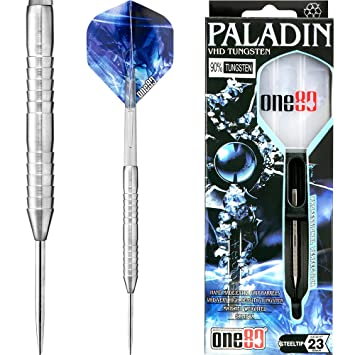 6fb08e63 One80 Paladin Darts - Steel Tip - Extra Fine Grained - VHD - 23g - With Darts  Corner Curvy Ballpen: Amazon.co.uk: Sports & Outdoors