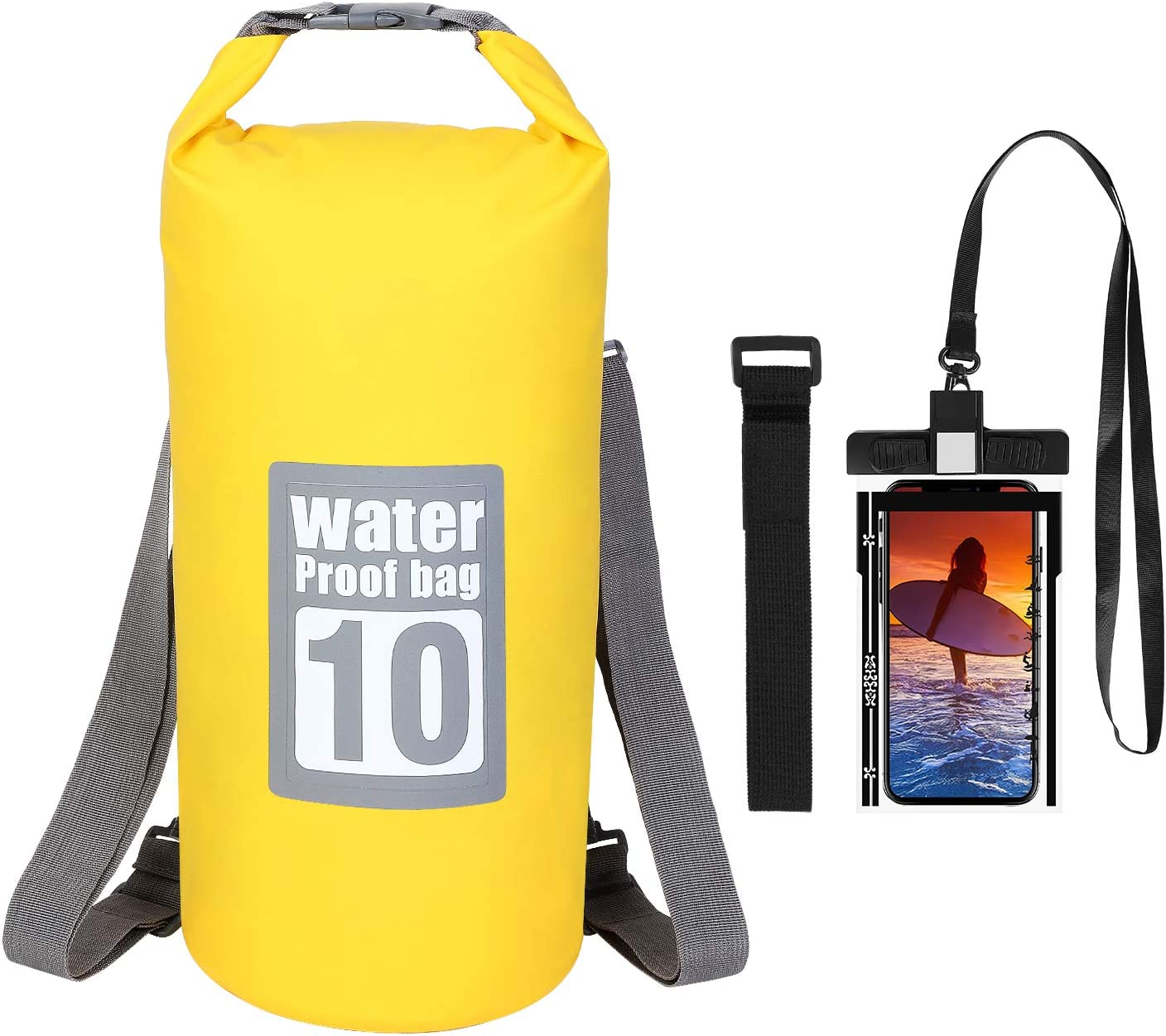 UrbanMover Waterproof Dry Bag 5L//10L//20L Lightweight Portable Boating Kayaking Diving Surfing Swimming Cycling Camping Hiking Beach Fishing