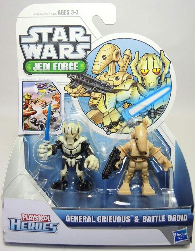 "STAR Wars Playskool Galattica Galaxy Heroes 2/"" Figura Generale Grievous Bodyguard"