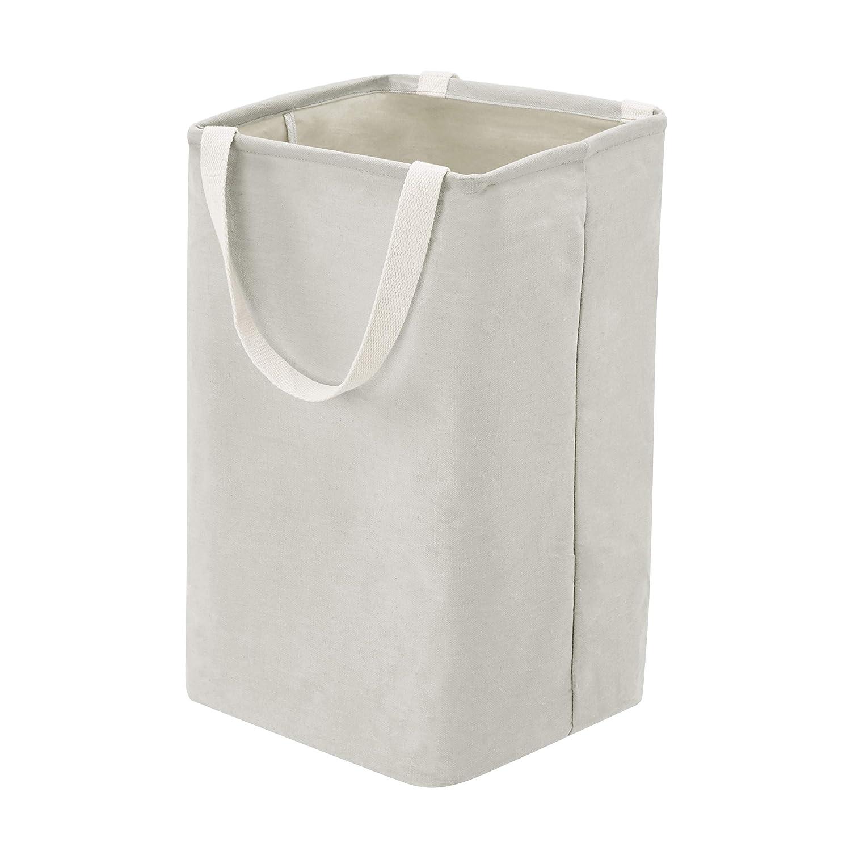 AmazonBasics Fabric Storage Bin - Tall Cube, Light Grey
