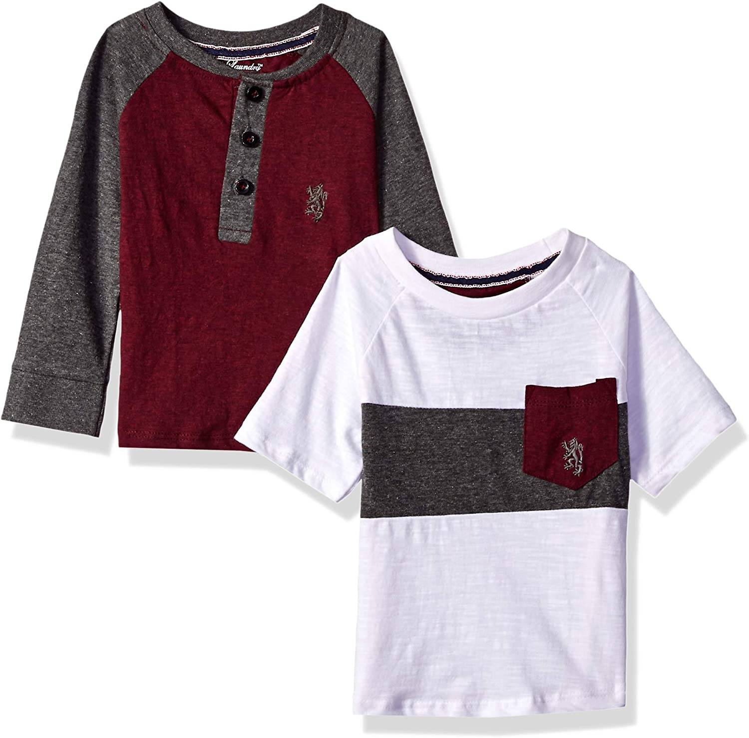 English Laundry Baby Boys Long Henley and Short Sleeve T-Shirt