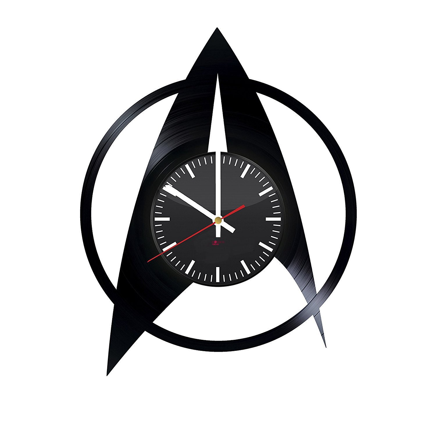 """BorschToday Star Trek Movie Vinyl Record Wall Clock - Get unique living room wall decor - Gift ideas for teens, adults and youth ??"""" Fantasy Film Logo Unique Art"""