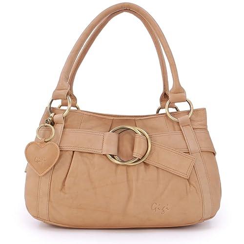 4e8a466623 Gigi - Women's Leather Top Handle Handbag/Shoulder Bag - OTHELLO 4466 -  Antique Honey