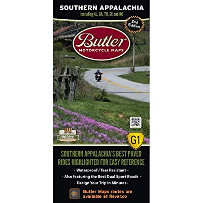 Butler Maps G1 Regional Maps (Southern Appalachia): Butler Motorcycle Maps: Automotive