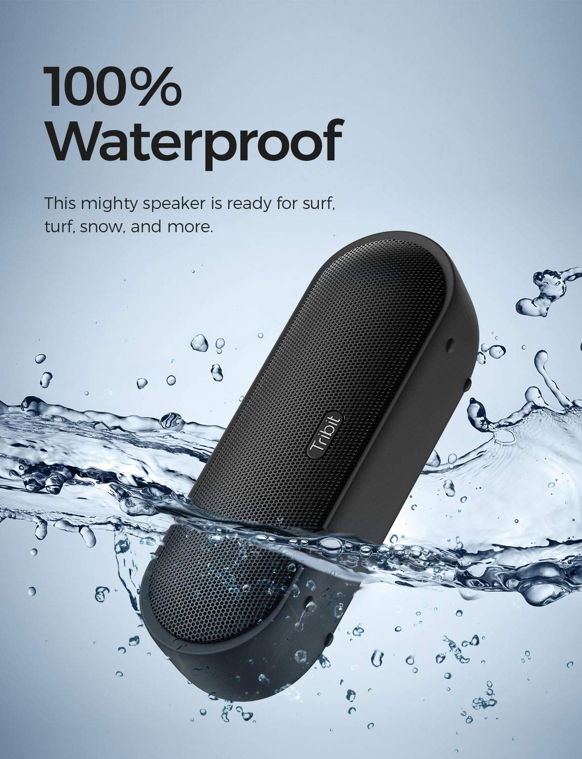 Tribit MaxSound Plus Portable Bluetooth Speaker, 24W Wireless Speaker with Powerful Louder Sound, Exceptional XBass, IPX7 Waterproof, 20-Hour Playtime, 100ft Bluetooth Range for Party, Travel, Outdoor by Tribit (Image #5)