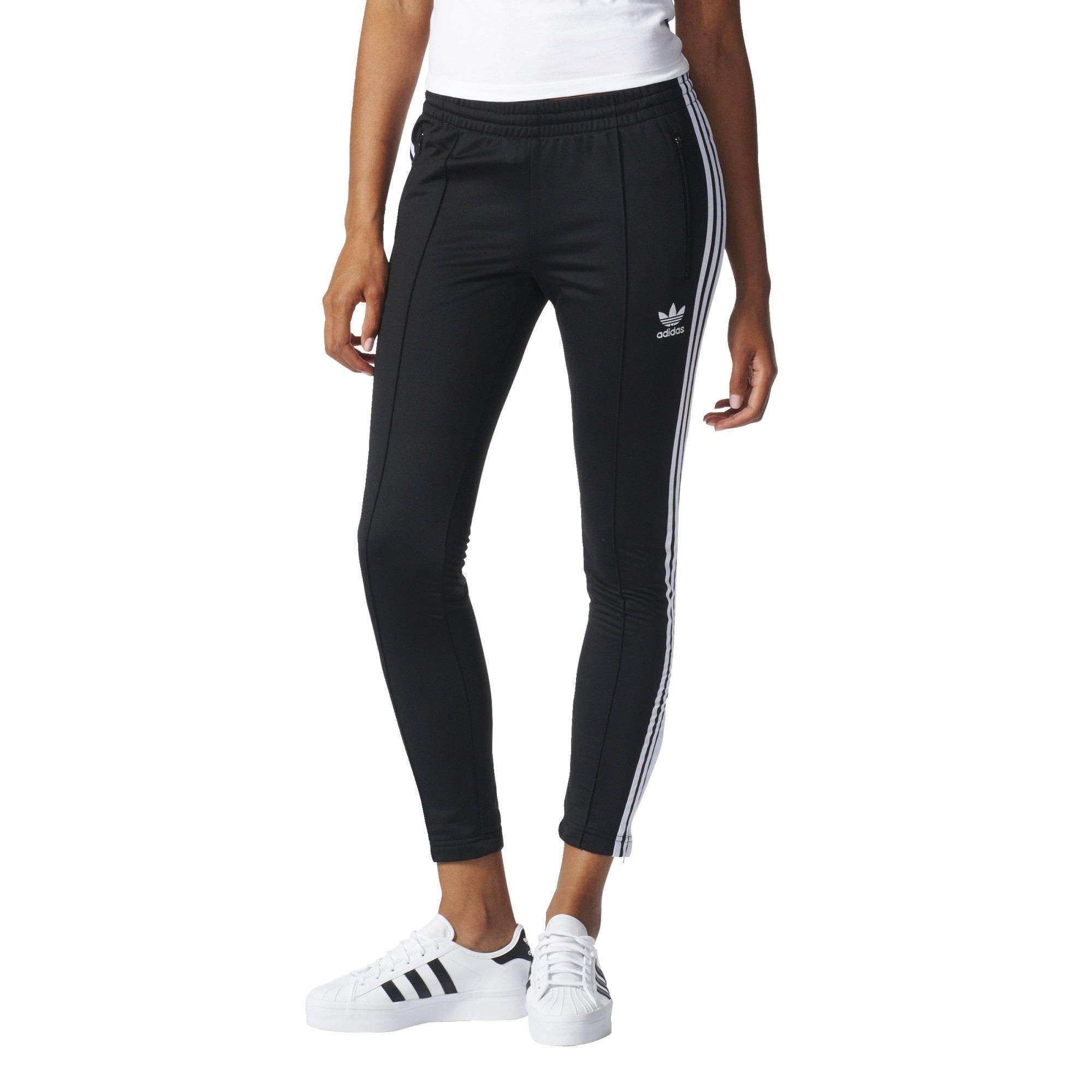 adidas Originals Women's Superstar Track Pant, Black/White, Medium