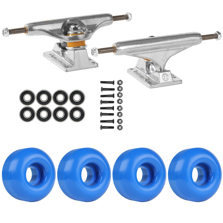 スケートボードパッケージIndependent 139 Trucks 53 MmロイヤルブルーABEC 7 Bearings   B01IFAFVEQ