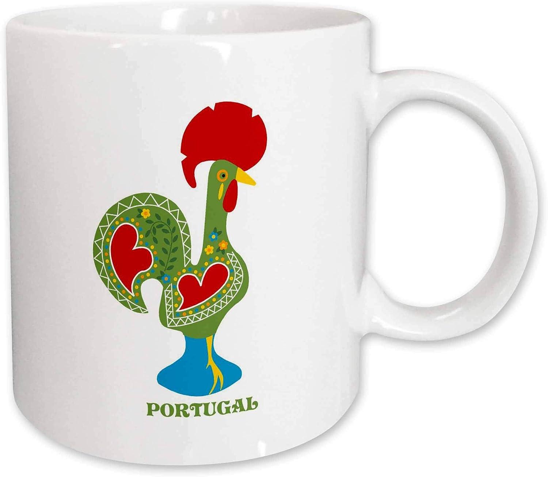 3drose Mug 160665 1 The Green Portuguese Rooster Or Galo De Barcelos Ceramic Mug 11 Ounce Kitchen Dining