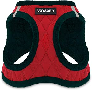 Voyager Step-in Plush Dog Harness - Soft Plush, Step in Vest Harness for Small and Medium Dogs by Best Pet Supplies