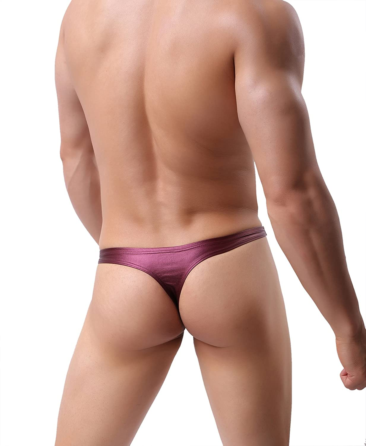 b34546579e Brave Person Men s Fashion Faux Leather Thong Underwear Sexy T-Back B1161  at Amazon Men s Clothing store