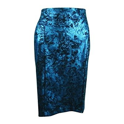 Alfani Womens Metallic Office Pencil Skirt at Women's Clothing store