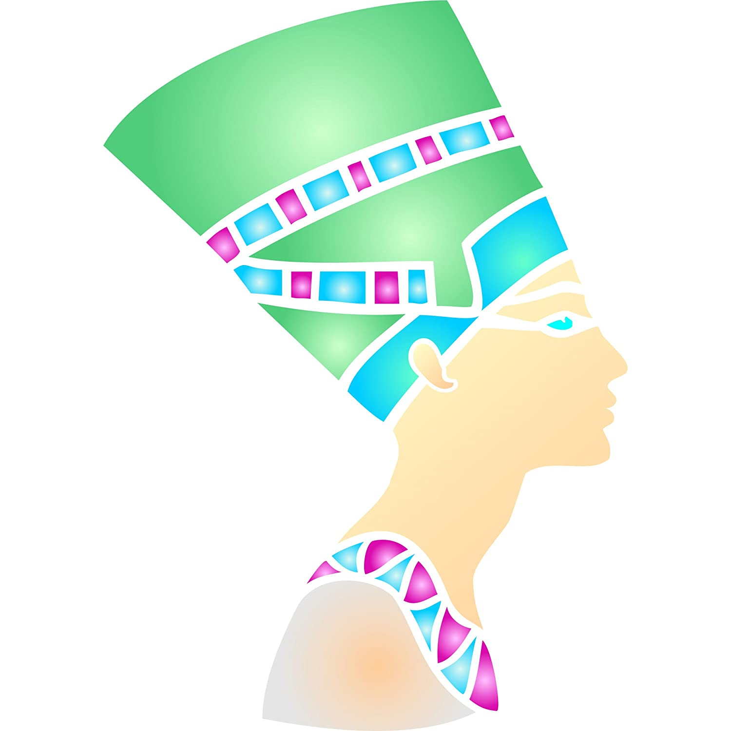 Amazon nefertiti stencil size 65w x 9h reusable wall amazon nefertiti stencil size 65w x 9h reusable wall stencils for painting best quality egyptian ideas use on walls floors fabrics glass amipublicfo Gallery