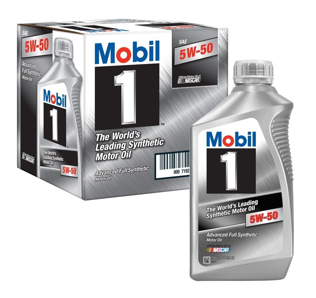 mobil 1 5w 50 synthetic oil 1 quart bottles 1 case of 6. Black Bedroom Furniture Sets. Home Design Ideas