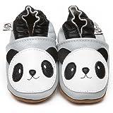 Suaves Zapatos De Cuero Del Bebé Panda 6-12 meses
