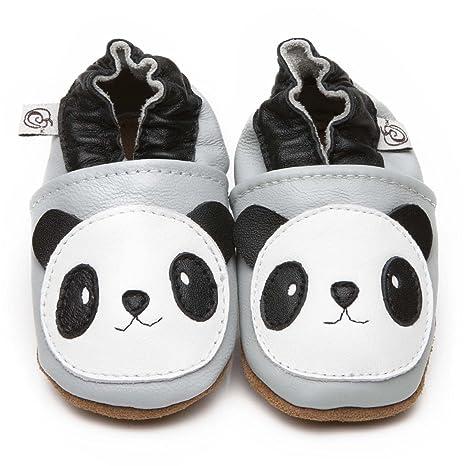 the best attitude new photos wholesale dealer Chaussons Bébé en cuir doux Panda 0/6 mois