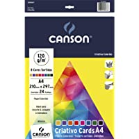 Papel Colorido A4 120g/m², Canson, 66667163, Criativo Cards, 8 Cores, 24 Folhas