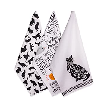DII Cotton Decorative Pet Lover Dish Towel 18 X 28u0026quot; Set Of 2, Oversized