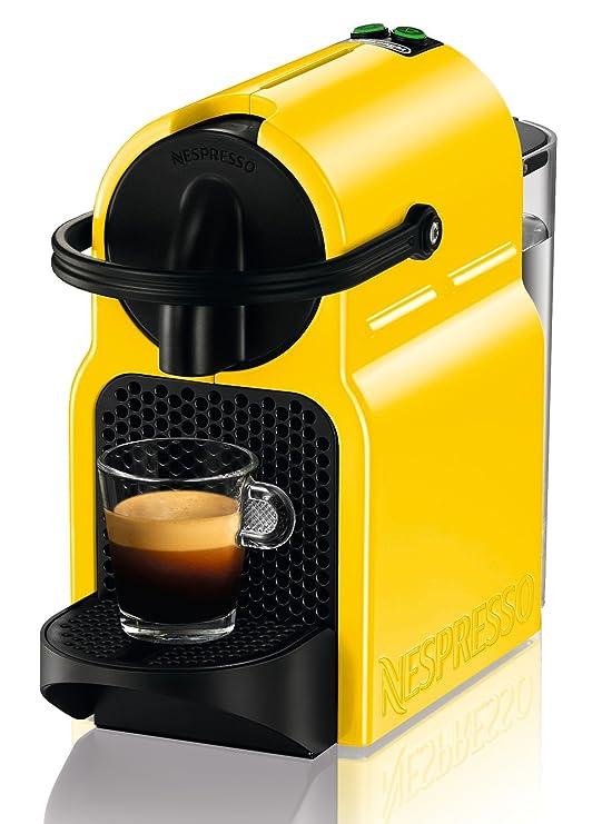 DeLonghi Nespresso Inissia EN 80.YE - Cafetera automática, 19 bares, color amarillo