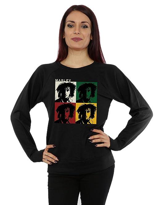 Bob Marley Mujer Colour Blocks Camisa De Entrenamiento: Amazon.es: Ropa y accesorios