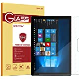 Surface Pro 4 Screen Protector, OMOTON [Surface Pencil Compatible - Tempered Glass] Screen Protector with [2.5D Round Edge] [9H Hardness] [Crystal Clear] [Anti-Resistant] for Surface Pro 4 12.3 inch