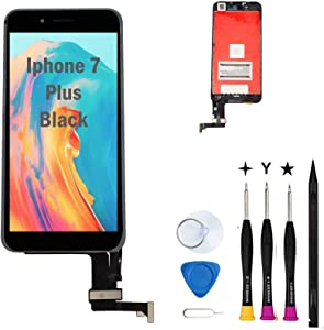 Oli & Ode Compatible with iPhone 7 Plus Screen Replacement LCD Digitizer Touch Screen Assembly Set with 3D Touch Model No.A1661 A1784 A1785 (Black)