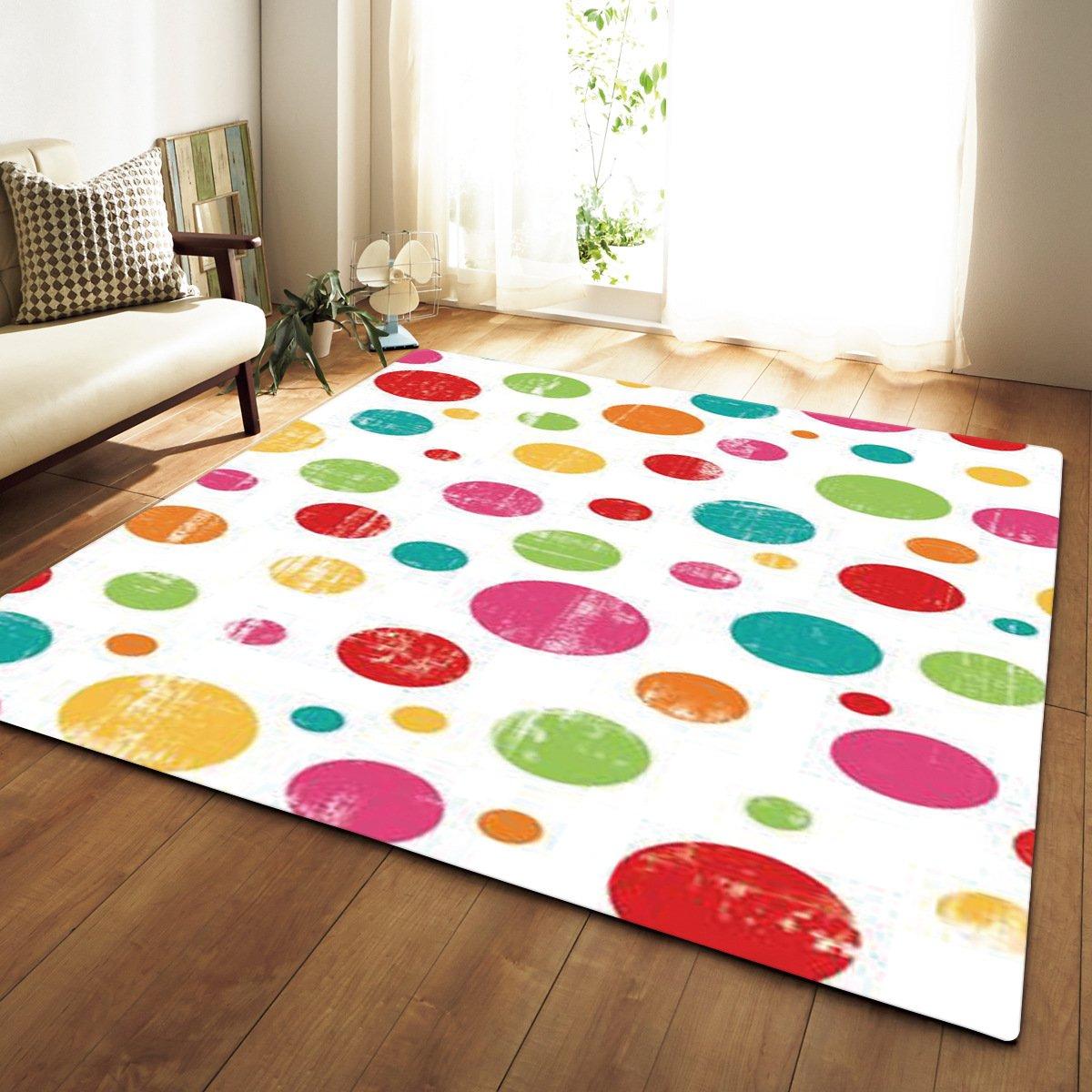 HYRL Carpets Rug 3D Pattern Soft/Rectangular/Anti-Slip Large Size For Living Room Modern Bedroom Tea Table Indoor Mats,#2,120X160cm