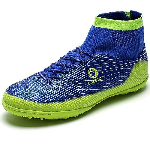 98b944f74 AKALI Boy Hombres Zapatos de fútbol Profesional AG/TF Botas de fútbol,Azul,Verde,Naranja:  Amazon.es: Zapatos y complementos