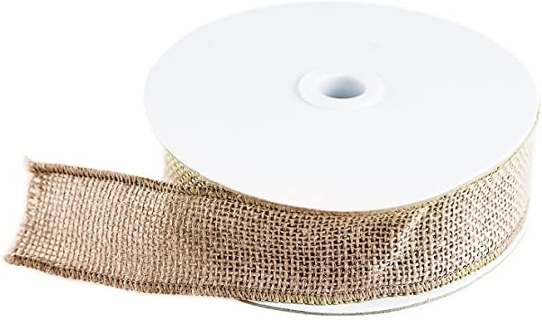 "Burlap Ribbon Roll 4/""X1m-Natural 49RB-84383"