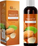 100% Pure Sweet Almond Oil Massage Therapy Carrier Oil for Sensual and Relaxing Therapeutic Massage for Sore Muscles and Joints Moisturizing Body Oil for Dry Skin Care Spa Massage for Men and Women