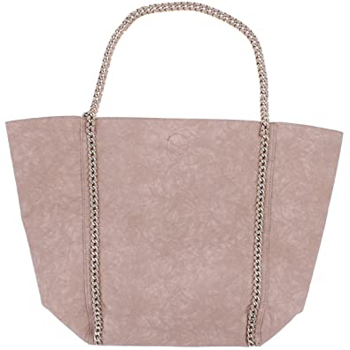 25cb3072d0 Urban Expressions Womens Matilda Vegan Leather Textured Tote Handbag Pink  Large  Handbags  Amazon.com