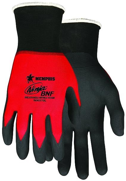 MCR Safety N96970M Ninja BNF Nitrile Gloves, ANSI Abrasion 4 ...