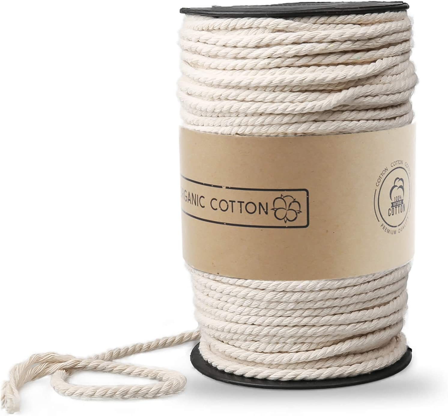 Macrame Cord Zoutog 3mm X 220 Yd About 200m Natural Cotton Soft Unstained Rope For Handmade Plant Hanger Wall Hanging Craft Making Arts Crafts Sewing