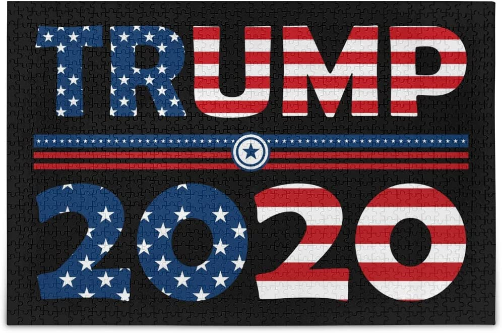 AGONA Puzzles for Adults 1000 Piece Donald Trump 2020 Jigsaw Puzzles Kids Educational Intellectual Fun Family Game Entertainment DIY Creative Wall Art Paintingsfor Home Decor