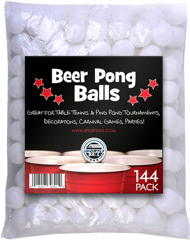 Brewski Brothers - Pelotas para jugar «Beer Pong» (144 unidades), color blanco: Amazon.es: Deportes y aire libre