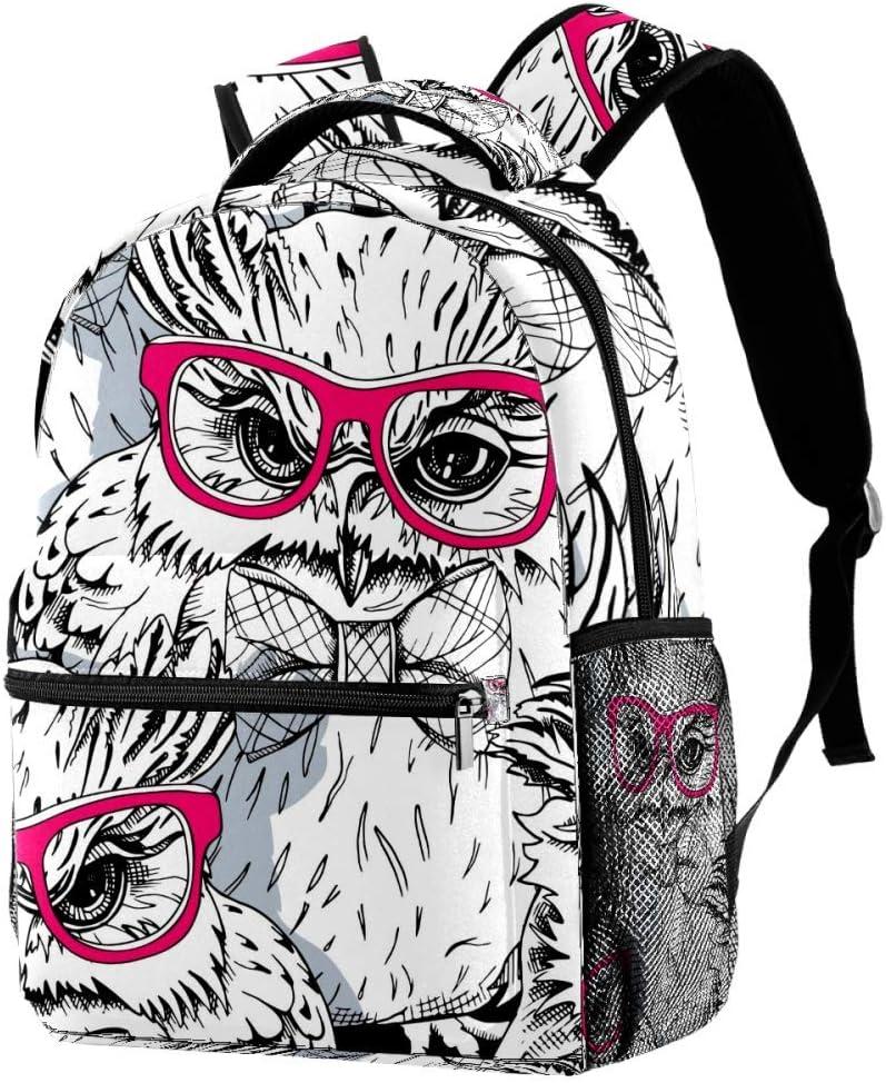 Sketch Cat Red Glasses Travel Laptop Backpack Casual Durable Backpack Daypacks for Men Women for Work Office College Students Business Travel Schoolbag Bookbag