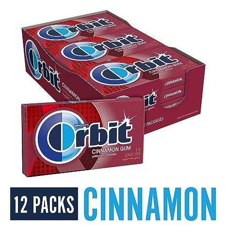 Orbit Cinnamint Sugarfree Gum, 14-Piece Packs (Pack of 12): Amazon ...