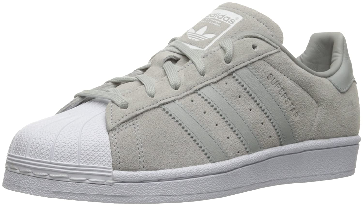 adidas Women's Originals Superstar B01K8P63RU 10 B(M) US|Clear Onix/Clear Onix/White