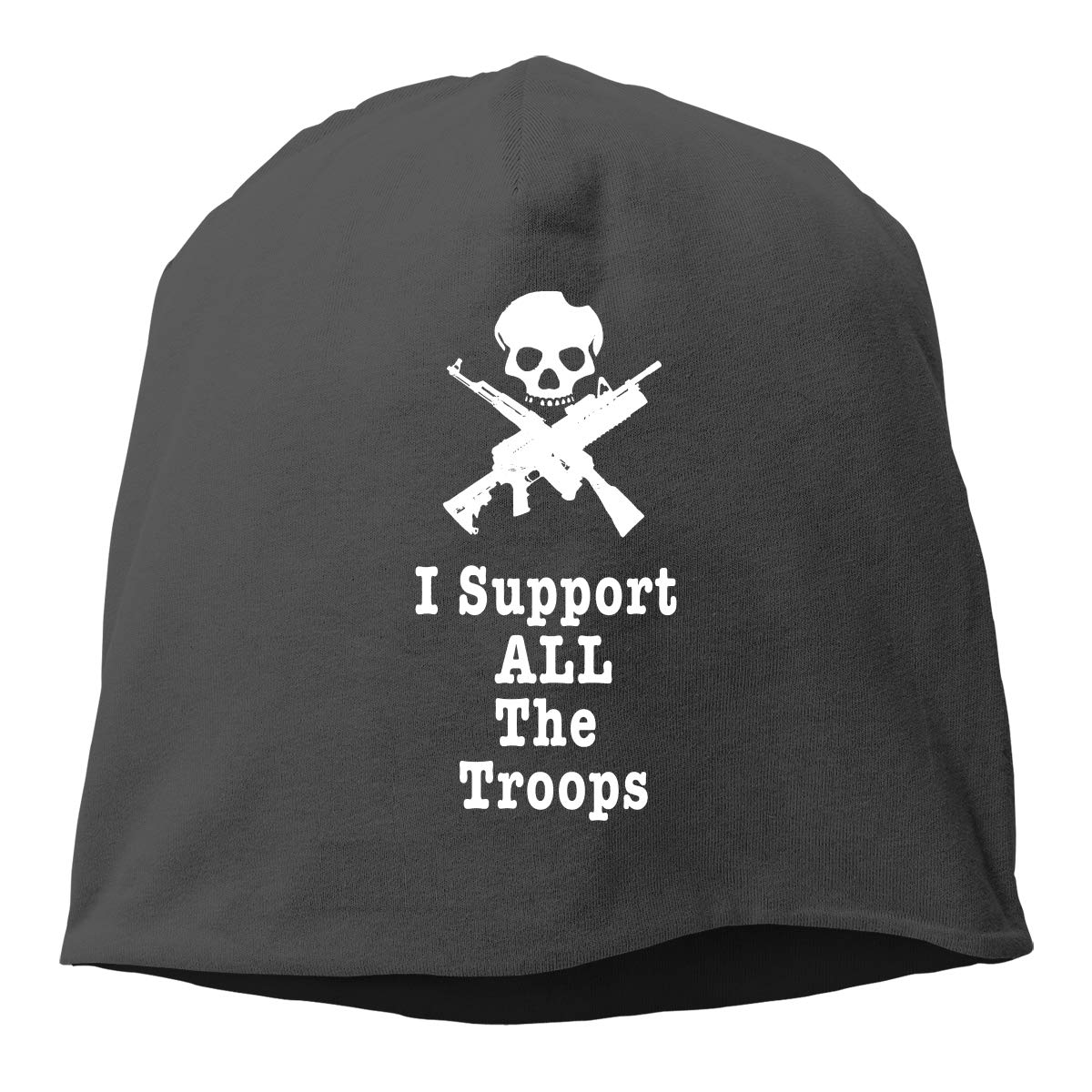 I Support All The Troops Unisex Knitted Hat Beanie Hat Warm Hats Skull Cap