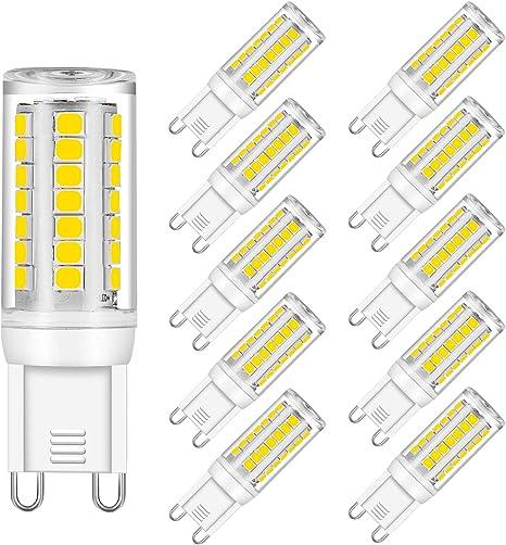 4 Pack GU10 LED Bulb Dimmable GU10 Base Light Bulb Warm White 3000K LED GU10 Spotlight 3W 30W Halogen Lamp Equivalent AC110-130V COB GU10 LED 60 Degree Beam Angle