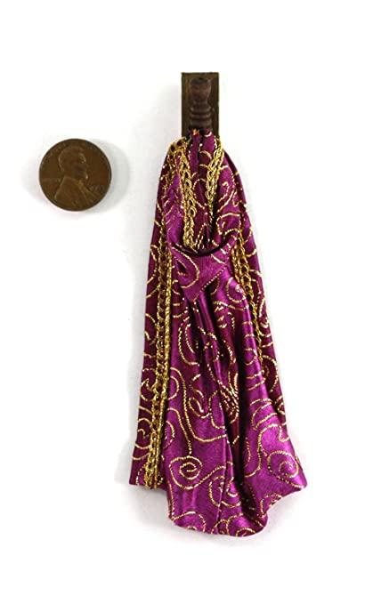 Dollhouse Miniature Handcrafted Witches Wizard Cape on hook Halloween 1:12