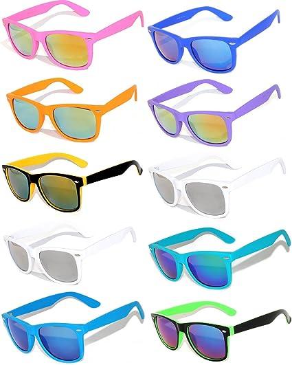 Purple /& Yellow Two Tone Retro Classic Sunglasses Mirror Lens 80s Vintage Retro