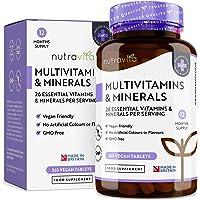 Multivitaminas y Minerales - 365 Comprimidos Multivitamínicos Veganos
