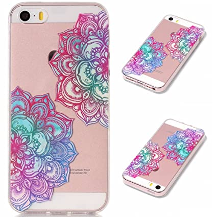 19f6e3455de Image Unavailable. Image not available for. Color: Aipyy iPhone 5 Case,5S  Cases,SE Covers,Transparent cartoon design TPU material