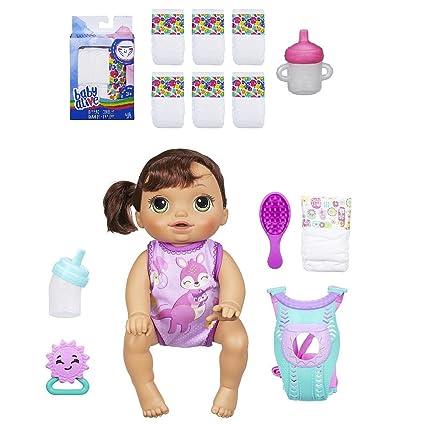 Doll Brunette Baby Alive Baby Go Bye Bye