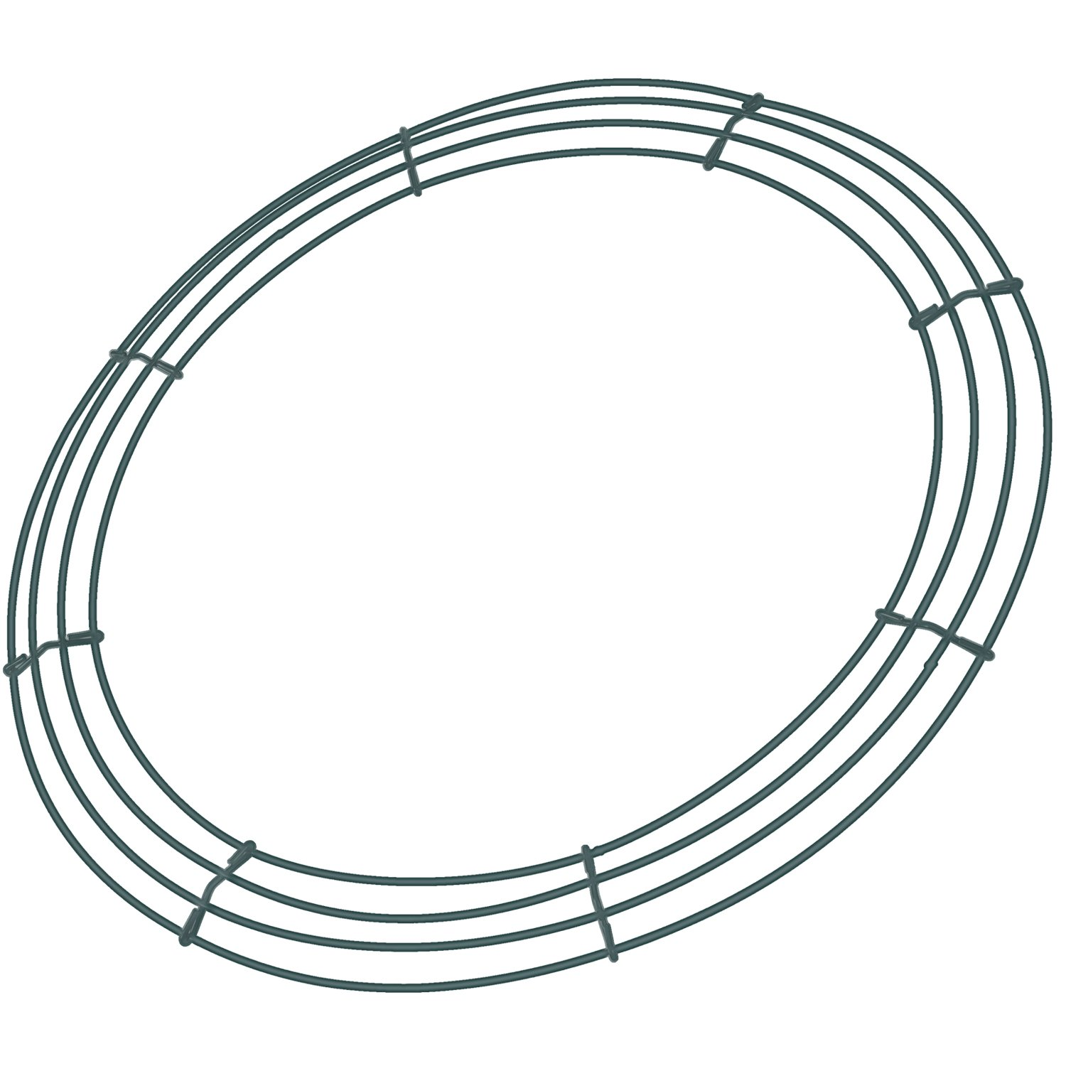 Sumind 2 Pack Wire Wreath Frame Wire Wreath Making Rings Green for ...
