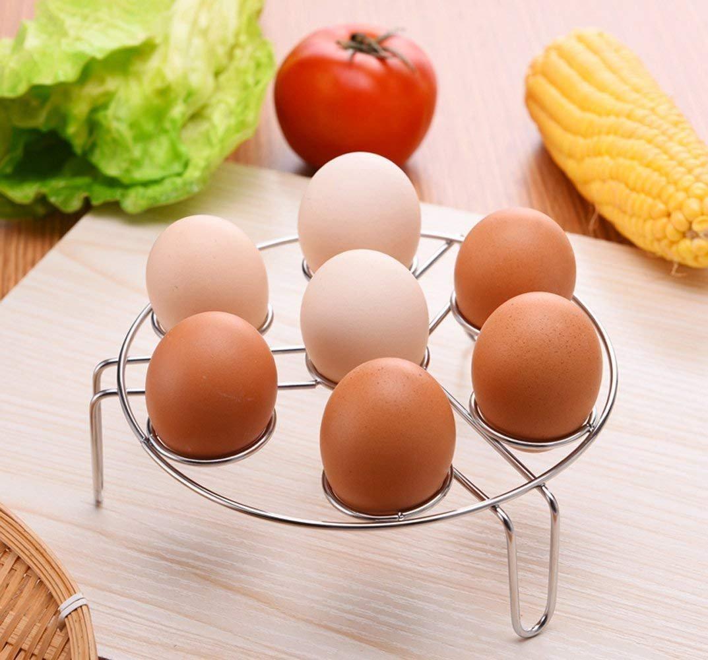 WaterLuu Egg Cooker Steam Rack Trivet, Instant Pot Egg Steamer Rack|Cookware Accessories|Cooking Accessories for Pressure Cooker Instant Pot 5Qt 6Qt or Above, 1 Pack 1pack-steamer