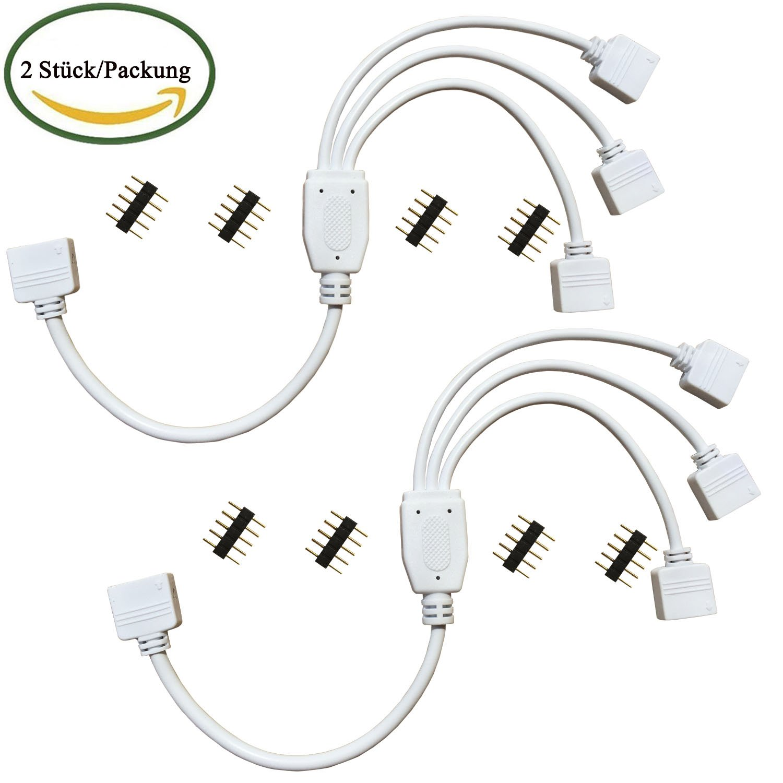 Kabenjee 2x 5-polig RGBW/RGBWW LED Streifen Y Splitter: Amazon.de ...
